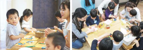 未就園児クラス「れんげ・ひまわり・たんぽぽ」
